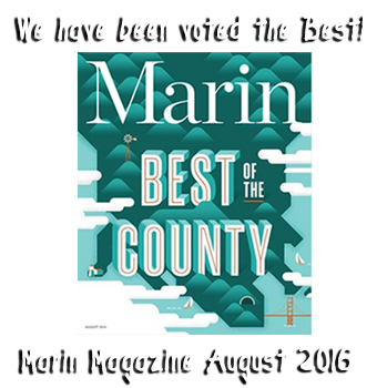 We've been voted Best of County in Marin Magazine for August 2016!